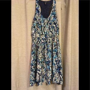 Aqua brand gray/blue dress